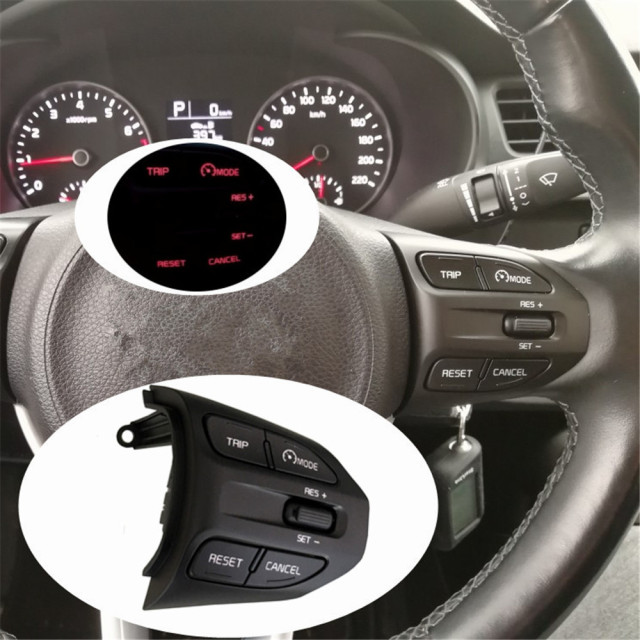 Steering Wheel Button For KIA K2 RIO 2017 2018 RIO X LINE Buttons Bluetooth Phone Cruise Control Volume .