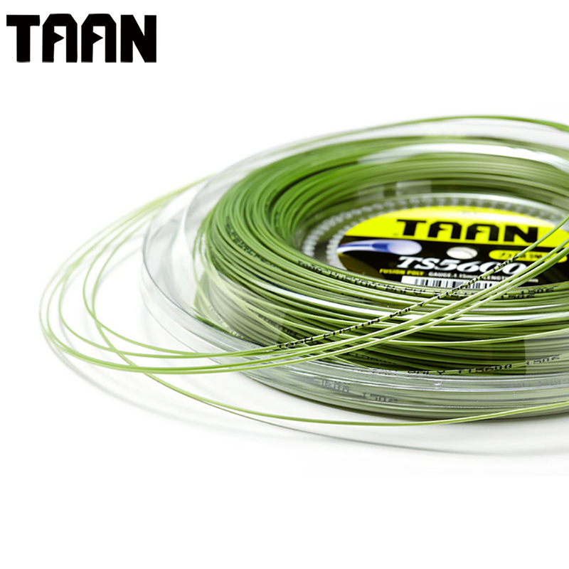 TAAN 1.15mm Tennis String Polyester Good String Round Durable Tennis Training String 200m Reel String 50-55 Pounds high elastic flower line tennis string durable tennis line 200m roll