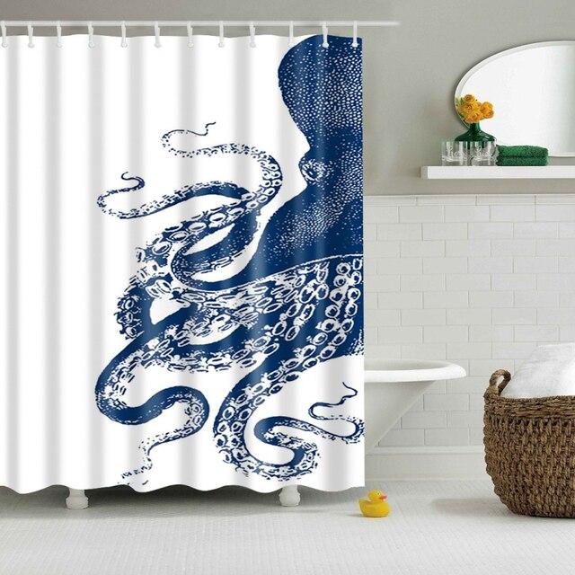2018 New Octopus Modello Tenda Della Doccia Tenda Bagno Eco-Friendly Impermeabil