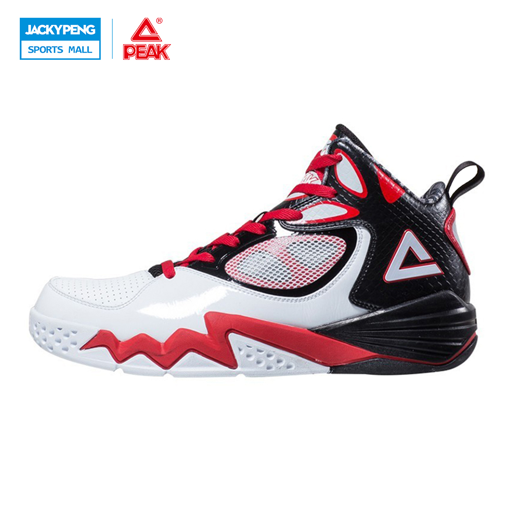 PEAK SPORT Monster II Men Basketball Shoes Outdoor Breathable Training Sneakers FOOTHOLD Tech High-Top Athletic Ankle Boots peak sport star series george hill gh3 men basketball shoes athletic cushion 3 non marking tech sneakers eur 40 50