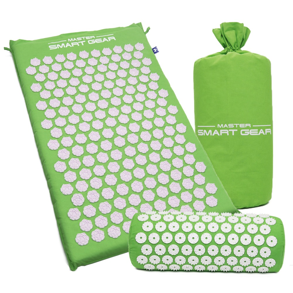 Acupressure Mat Massage Cushion Relieve Stress Pain Acupuncture Spike Yoga Mat with Pillow