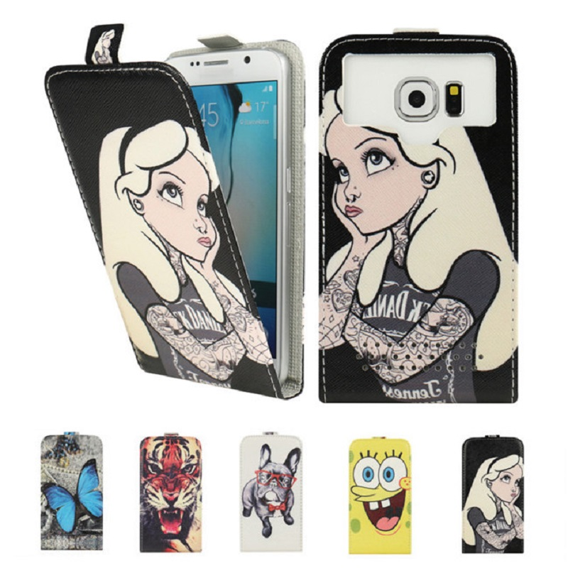Fly IQ4406 Case, Fashion Cartoon Flip PU Leather Phone Cases for Fly IQ4406 ERA Nano 6 Capas Coque Fundas