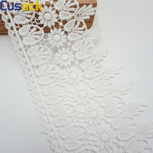 1 meter 11.5 cm Cotton White Lace Ribbon Trims for Dresses Trimmings Edge Costume Applique Lace Fabric DIY Sewing Stitch Cusack