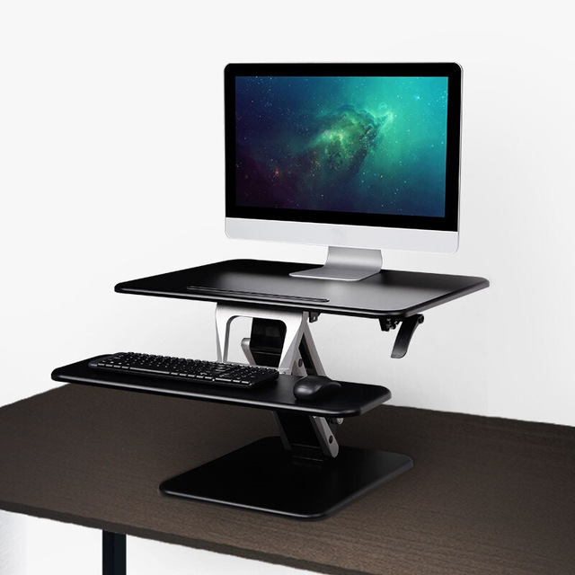 Loctek M3 Height Adjustable Sit To Stand Laptop+Monitor Holder Folding  Highten TV Mount Gas