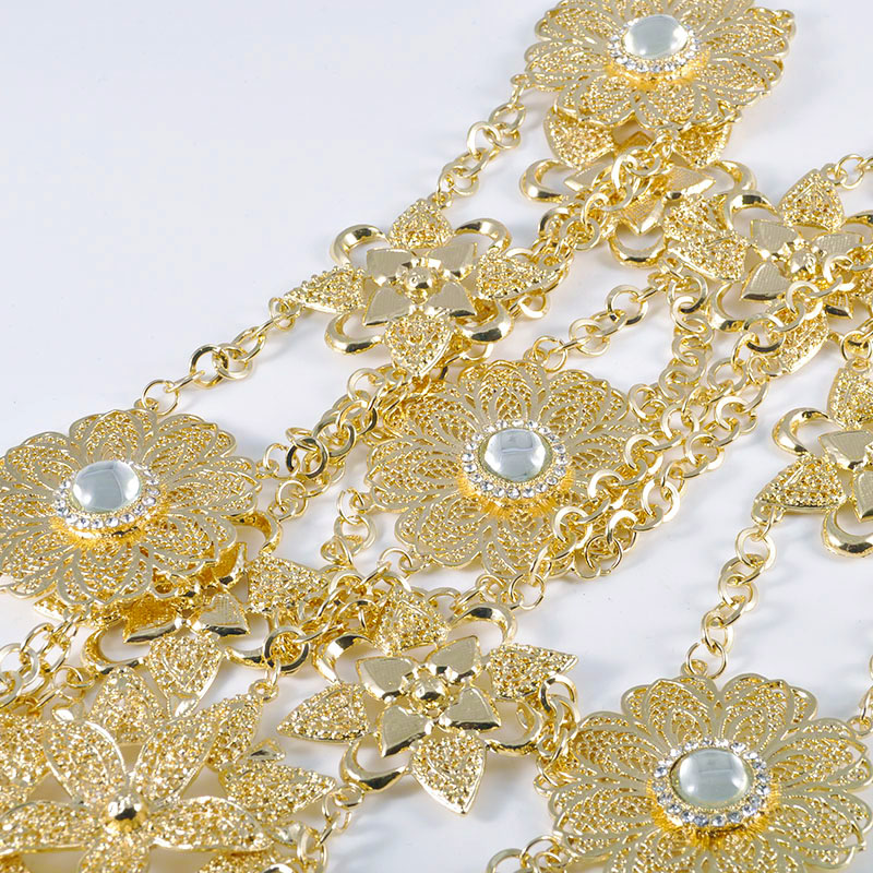 HTB1nWVSONYaK1RjSZFnq6y80pXaA 6PCS Set Luxury Wedding Jewelry Set For Women Arabic Dubai Full Set Jewelry in Gold Big Size Costume Necklace Sets