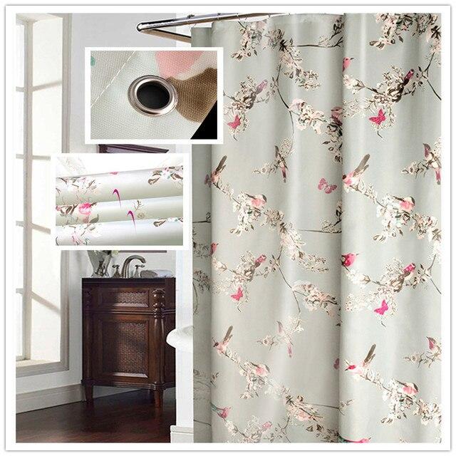 JUYANG. di alta qualità impermeabile tenda della doccia. unico fiori e uccelli p