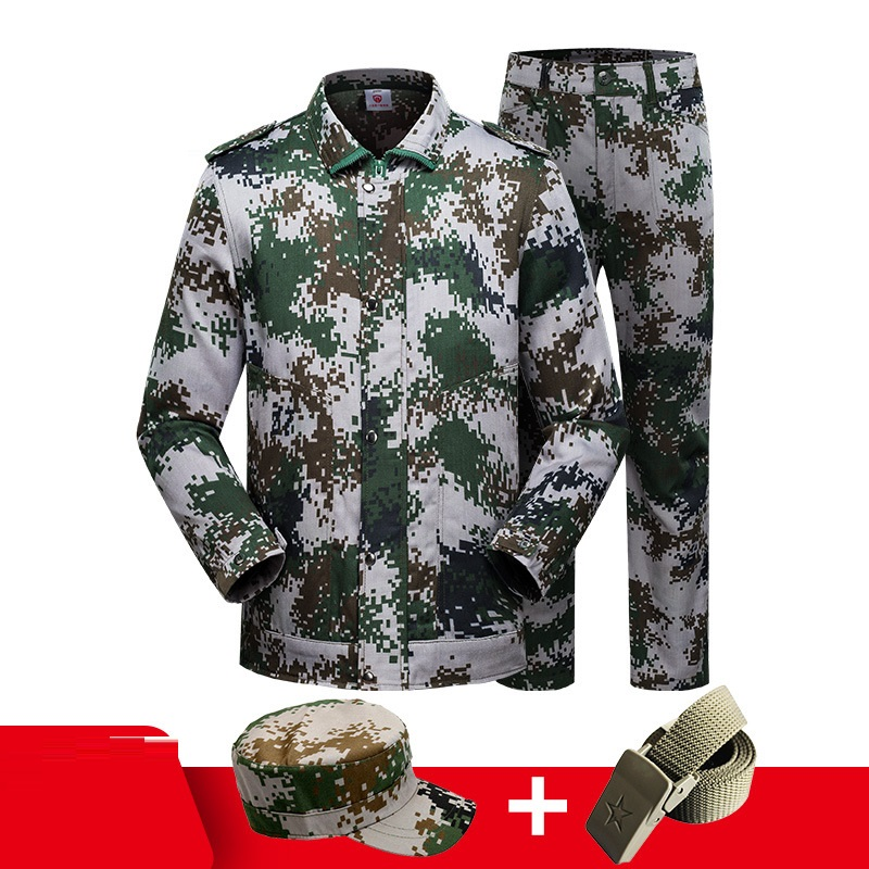 Army Clothing Workwear Unisex Military Training Clothes Set Factory Uniform Wear-resistant Repairman Camouflage Workshop Suits