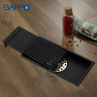 GAPPO Drains Anti odor recgangle bathroom floor drain strainer shower floor drains black bathroom drainers water stoppers
