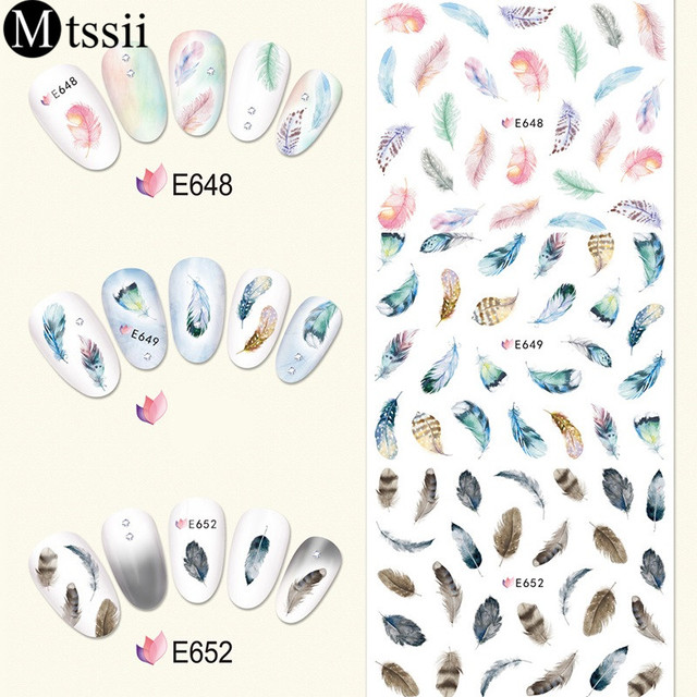 3D Sheet Dream Catcher Feather Water Decal Nail Stickers