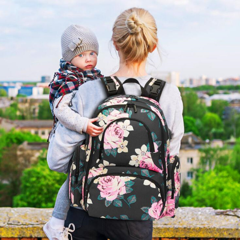 CoolBELL Baby Diaper Backpack With Insulated Pockets Large Size Water-resistant Baby Bag Nappy Change Pad Drop Shipping