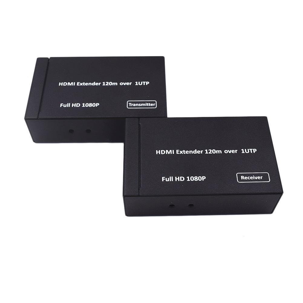 Nouveau 1080 P 3D 120 M HDMI Extender HDMI Émetteur Récepteur HDMI Sur Simple UTP CAT5e CAT6 RJ45 Ethernet Convertisseur Extender US/EU