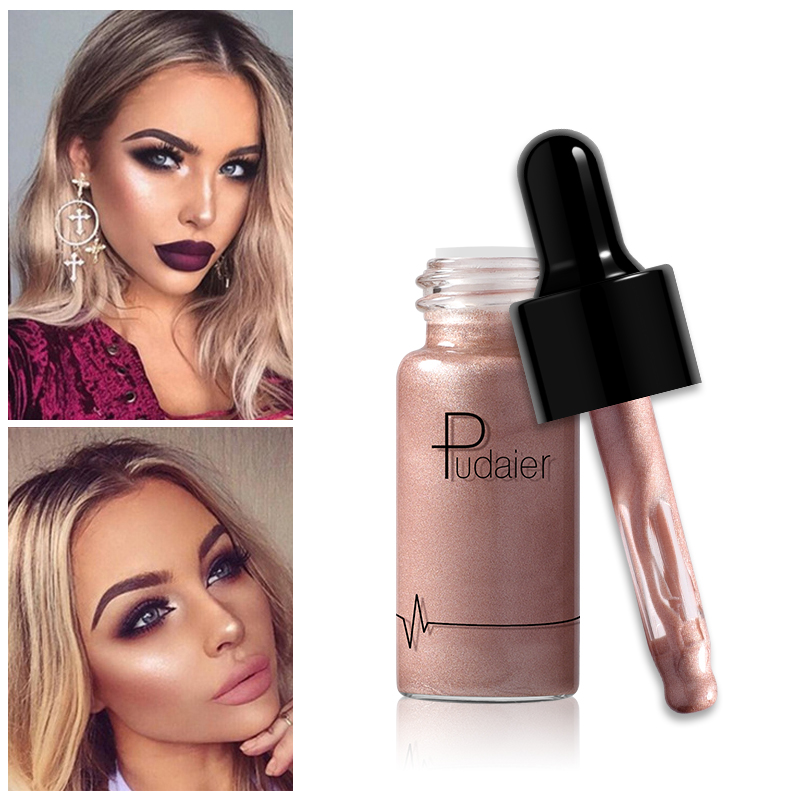 Pudaier makeup Liquid brighten Highlighter 12 colors Make Up Cream Concealer Shimmer Shine Lips Face Bronzer Highliter Glow Kit