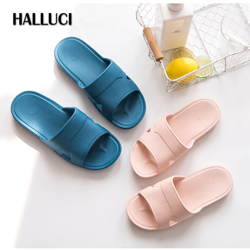 HALLUCI summer couple slippers zapatos mujer shoes women home slides mules indoor lovely bath flip flops soft sole shoes terlik halluci breathable sweet cotton candy color home slippers women shoes princess pink slides flip flops mules bedroom slippers