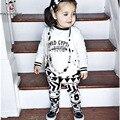 Bebé Ropa de Verano Ropa de Bebé Girls Set Letter Print Short Sleeve T-Shirt Pantalones A Rayas Bebé Ropa de Bebé Recién Nacido