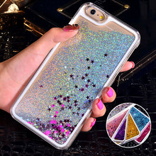 For iPhone 6 Case Glitter Bling Liquid Sand Star Quicksand Clear Hard Case For iPhone 6S Case 4S 5C 5S 6 Plus 7 Plus Accessories