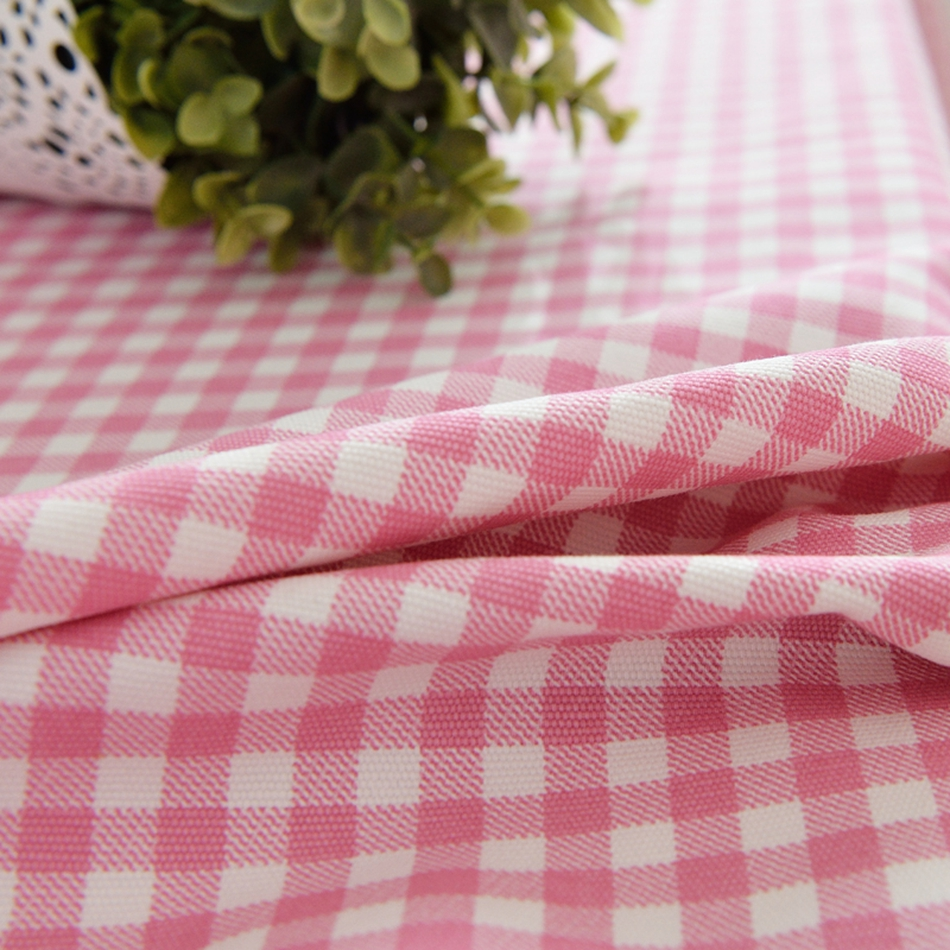 Online Shop Pink Plaid 100% Cotton Tablecloth Beautiful Laces Rectangle  Table Cover Washable Decoration Design For Dining Room | Aliexpress Mobile