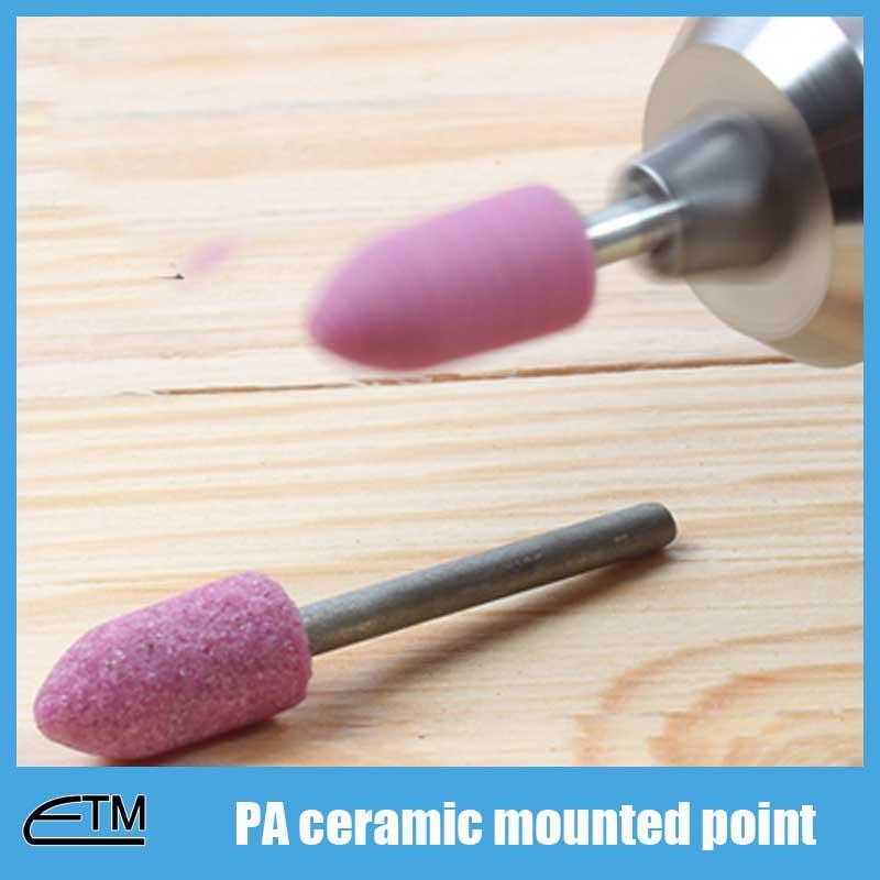 50 piezas de cilindro de punta montada de óxido de aluminio rosa - Herramientas abrasivas - foto 5