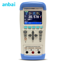 Precision Portable Handheld Digital LCR Meter Tester Accuracy 0.2% Frequency 100Hz 120Hz 1kHz AT824