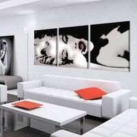 3 Panneau Moderne Huile Peinture Décorative À La Maison Art Photo Peinture Sur Toile Imprime la Peinture Sexy Marilyn Monroe Peintures Murales