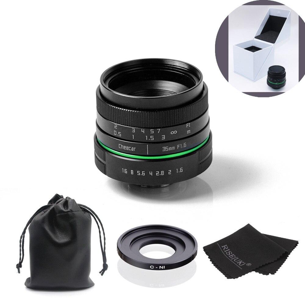 New green circle 35mm lens cctv For Nikon 1 V1, J1, V2, J2 with c-N1 adapter ring + bag + big box + Free Shipping+ Gift new green circle 25mm cctv camera lens for fujifilm x e1 x pro1 with c fx adapter ring free shipping