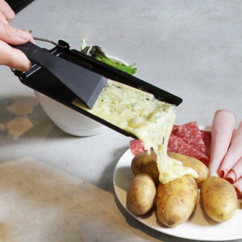 Grill Cheese Raclette Set Non-stick Cheese Melter Pan Baked Cheese Oven 1 Set BBQ Cheese Board Baking Tray Kitchen Gadgets Iron image