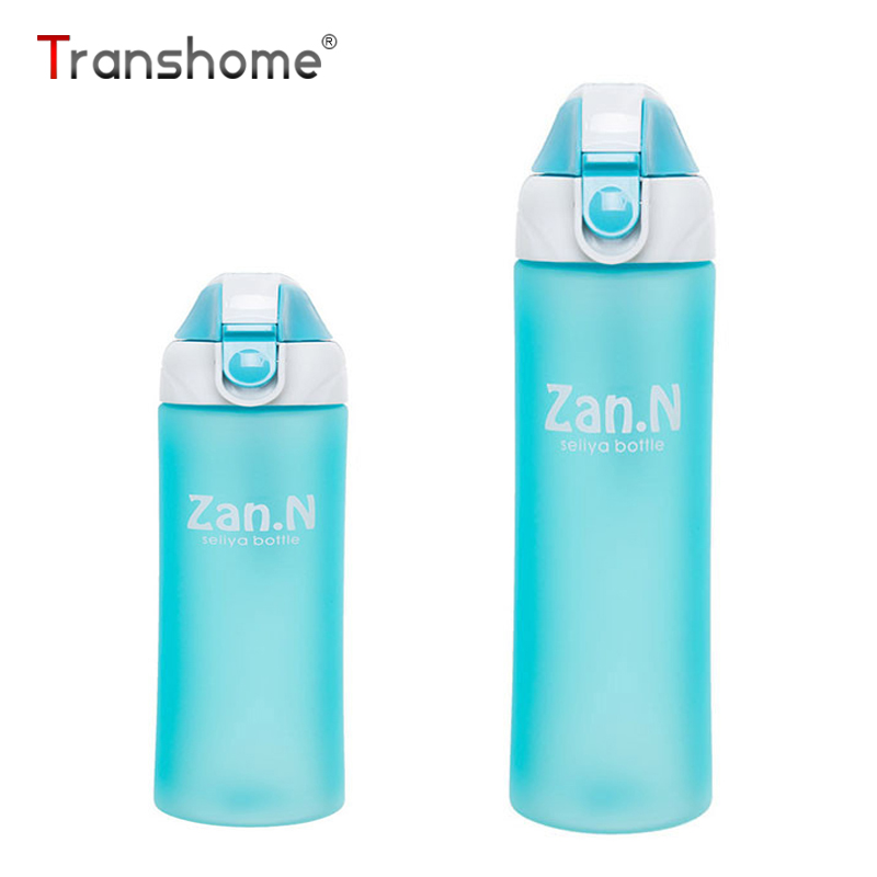 Transhome Outdoor Water Bottle 650ml High Quality Sport Eco-friendly Plastic Bicycle Camping Sport Travel Drink Tea Water Bottle