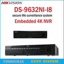 Hikvision NVR DS-9632NI-I8 32CH 12MP 4K Playback HDMI Output H.265 8SATA Dual-OS design at up to 4K NVR For CCTV IP camera