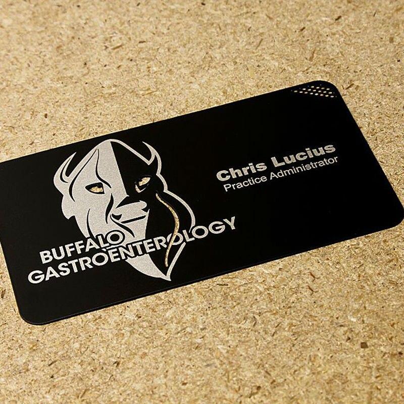 Electrophoresis Metal Card Black Metal Business Cards Creative Personality Metal Membership Card Car Club Membership Card Custom