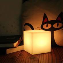 10CM/15CM/20CM Cube LED Night Lamps 16-Colour Bedroom Light Dinning Room Decorative Bar Table Desk Lamp