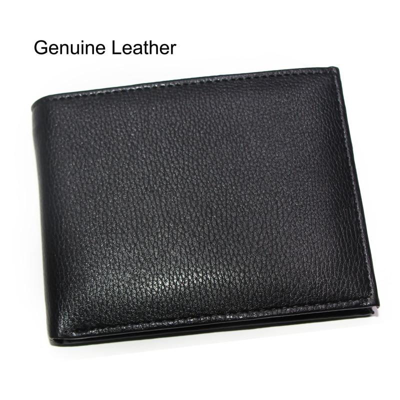 f0f902eb1 Moda hombres del cuero genuino monederos Cruz Vertical marrón negro  licencia Moneda de bolsillo titular de la tarjeta monedero de la cartera  envío gratis