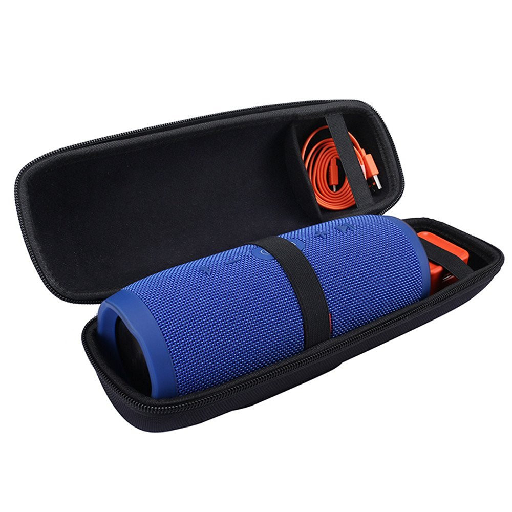 New PU Hard Carry Protective Speaker Cover Case EVA Bag For JBL Charge 3 Charge3 Wireless Bluetooth Extra Space for Plug&Cables
