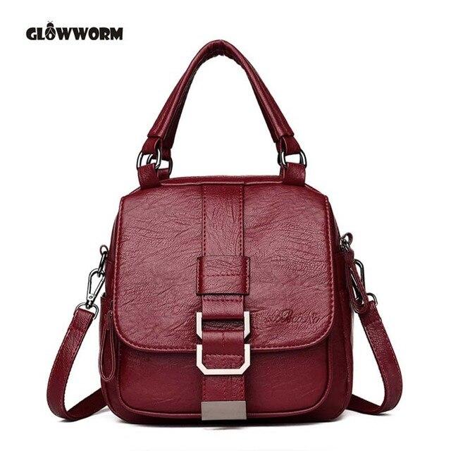 61bb7b550e57 Multifunctio Women Backpacks Leather Female Travel Shoulder Bag Backpack  High Quality Women Bag School Bag Backpack Girl Mochila-in Backpacks from  ...