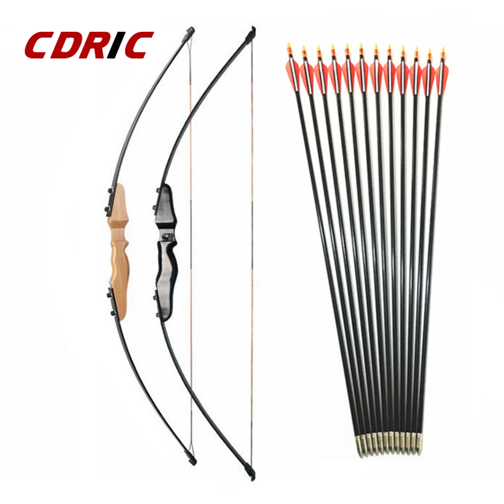 30/40LBS Straight Bow Split 51 Inches Entry Bow With Arrows For Children Youth Archery Hunting Shooting Kids  Bow(China)