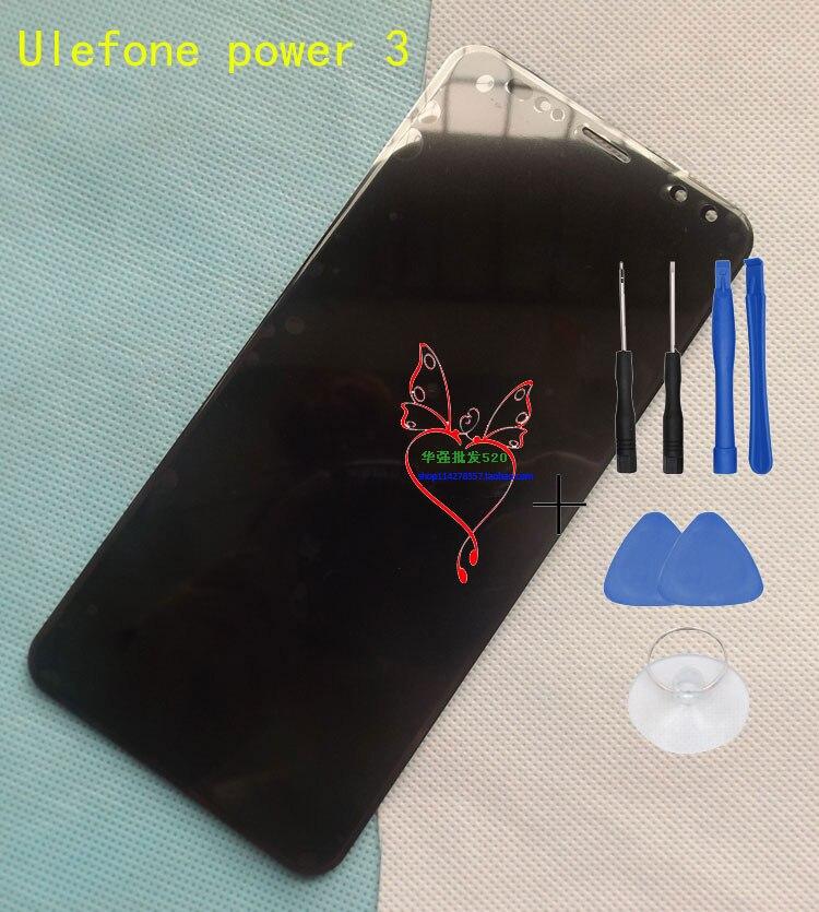 D'origine Puissance 3 Panneau Avant Tactile En Verre Digitizer Écran avec écran lcd pour 6.0 pouces ulefone puissance 3 s Téléphone