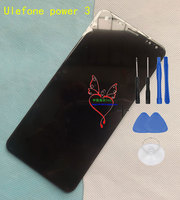 Original Power 3 Front Panel Touch Glass Digitizer Screen With LCD Display For 6 0inch Ulefone