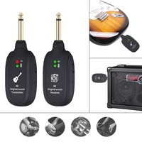 Mini Wireless Rechargeable Electric Guitar Bass Audio Transmitter Receiver Support 100M Effective Transmission Range