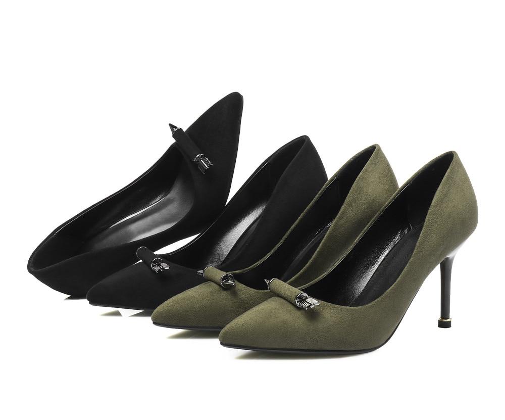 Slip Smeeroon Mujeres On Atractivo Shallow Militar Primavera Cm Nuevo Las Señalaron 2018 Moda 5 Estilo Delgados Negro De Tacones Partido Verde 8 Negro Zapatos verde Toe Color ggwO6rq