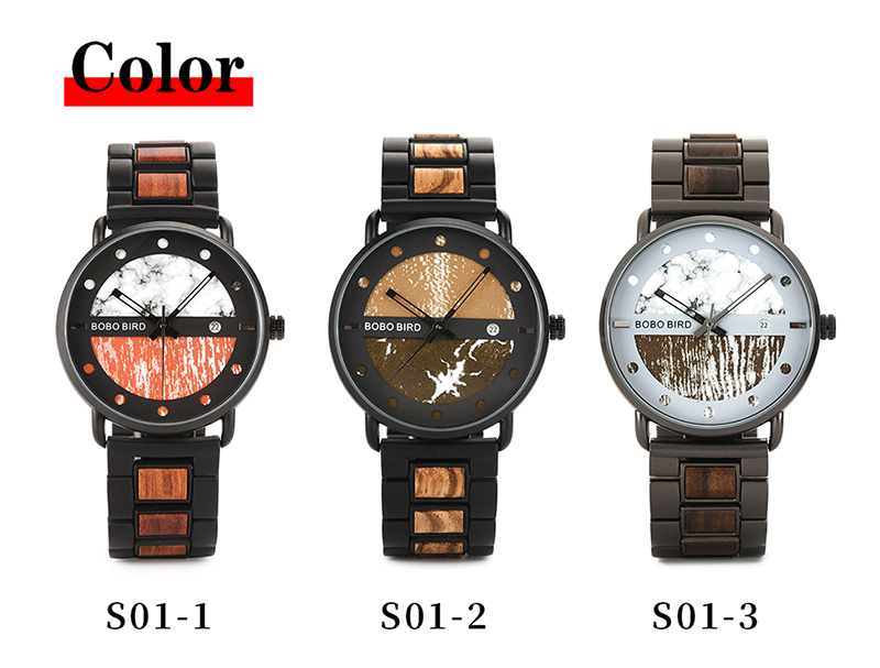 BOBO BIRD Zebra Wood & Metal Stylish Wooden Watch For Men with Date Display 9