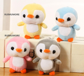 4colors, little cute 10cm approx. small penguin little Plush Stuffed Toys , gift baby toys