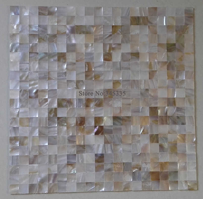 Natural Luster Mother Of Pearl Shell Mosaic Tile Kitchen