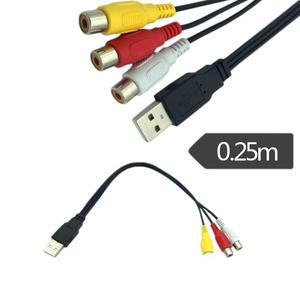 Image 5 - 1 máy tính USB Nam Cắm Sang 3 ĐẦU RCA Adapter Chuyển Đổi Âm Thanh Video AV MỘT/V Cáp USB cáp RCA dành cho HDTV TV Truyền Hình Dây Dây