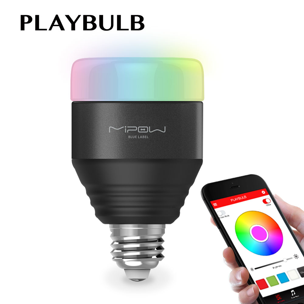 MIPOW Bluetooth Smart LED Light Bulbs APP Smartphone Group Controlled Dimmable Color Changing Decorative Christmas Party Lights smart home appliances lighting cellphone controlled wifi led lamp 10w rgb app handy bulb dimmable multicolored color changing