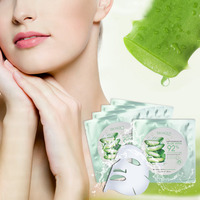 Natural Aloe Vera Gel Face Mask Set Moisturizing Whitening Anti Aging Oil Control Shrink Pores Facial