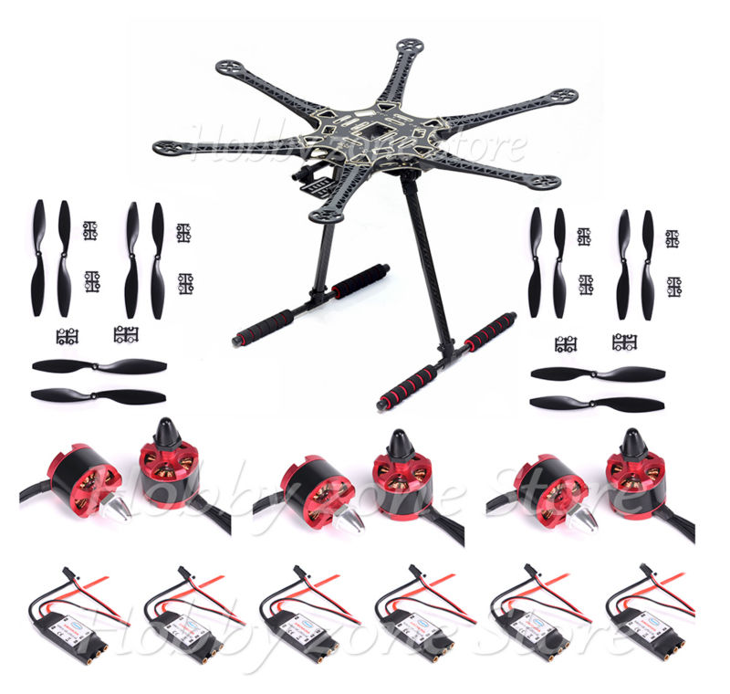 S550 Upgrade F550 Multirotor Hexacopter Frame Kit With Landing Gear 2212 920kv Motor 30A ESC 1045