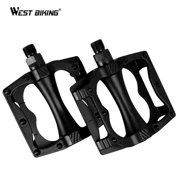 WEST BIKING Aluminum Alloy Bicycle Pedals MTB Road Mountain Bike Pedals Hollow Anti-slip Durable Bearing Cycling Bicycle Pedals