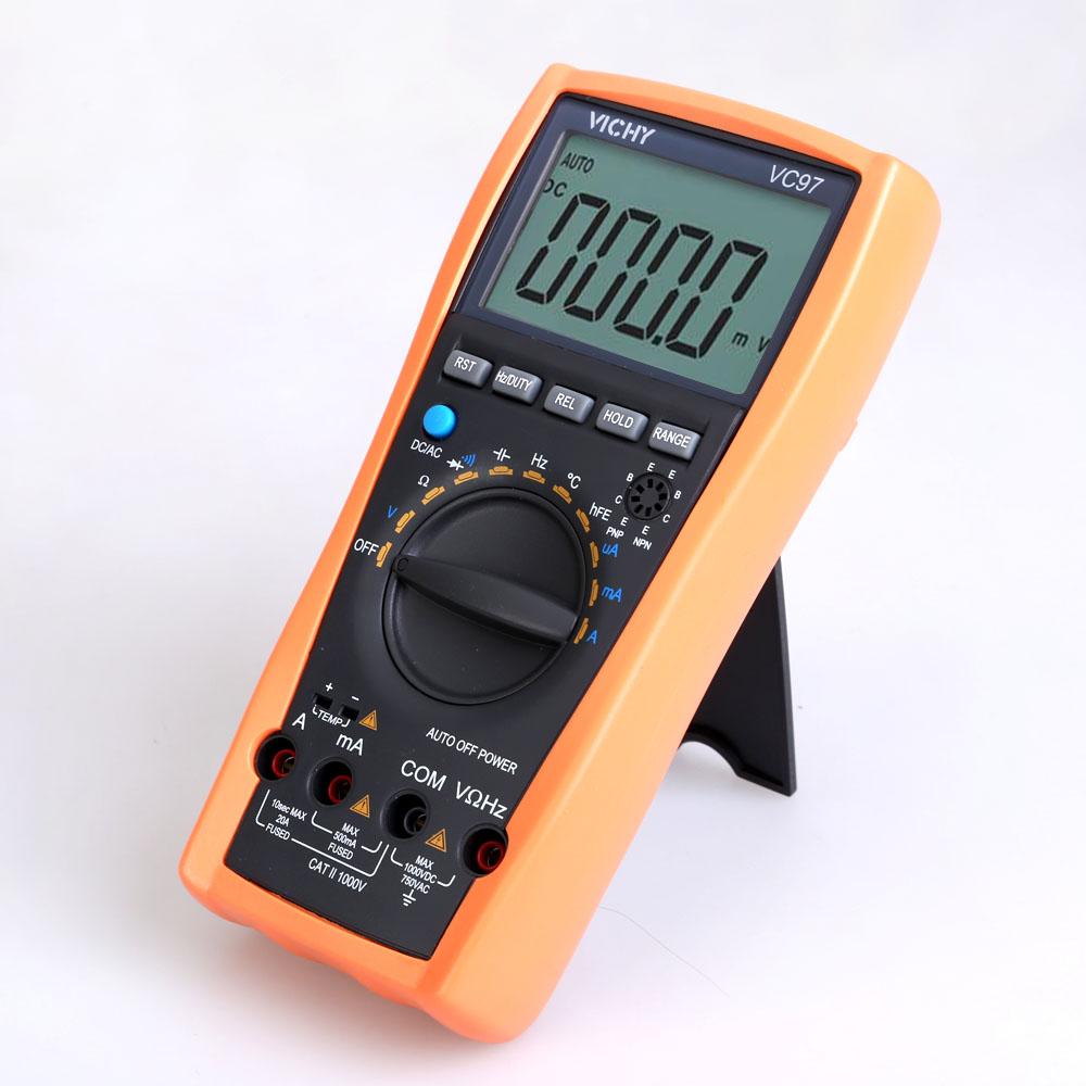 цены  LCD Digital Multimeter VC97 3 3/4 Auto Range Protection Multimeter Voltmeter Ammeter Temp Ohm Electrical Tester Diode Detector