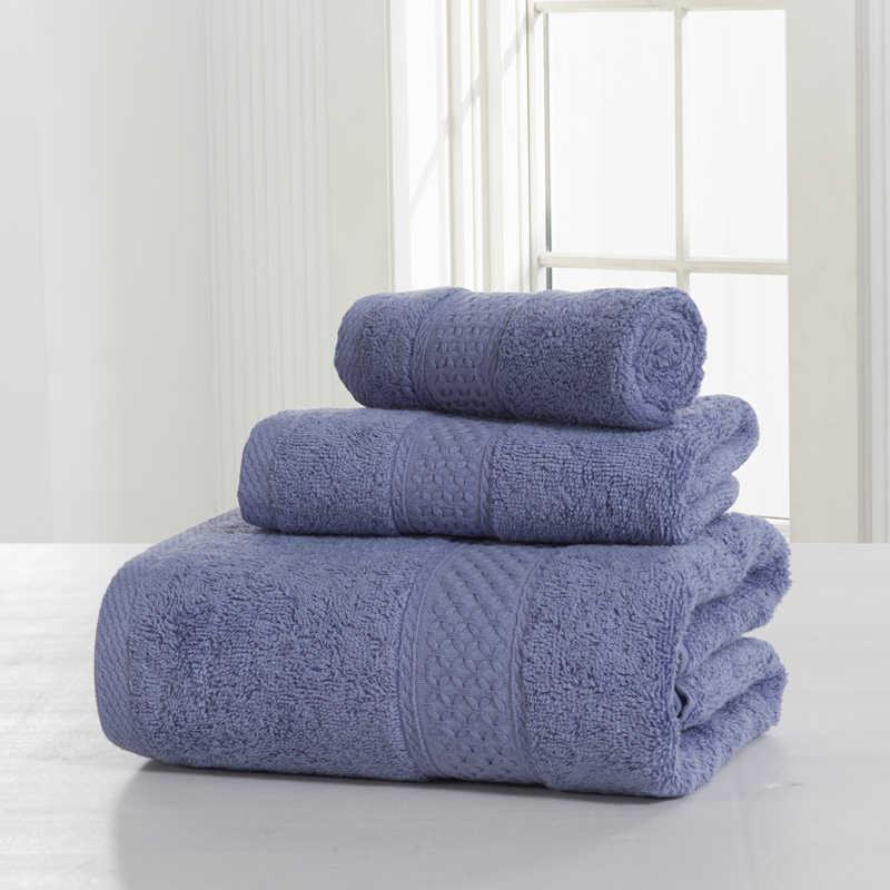 """סט מגבת כותנה מצרית באיכות גבוהה 2018 מוצרים חדשים 33*33/32*73/70*140 ס""""מ אמבטיה סט מגבת כותנה מצרית"""