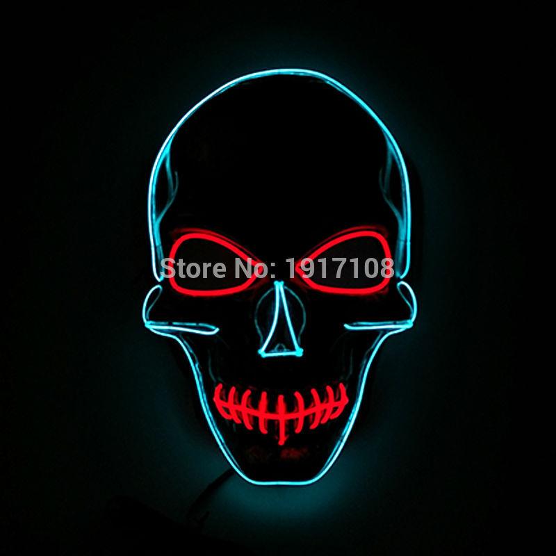 Uus Halloweeni peo maskmaskera Skull head Mask Mood LED-i vilkuv - Pühad ja peod - Foto 3