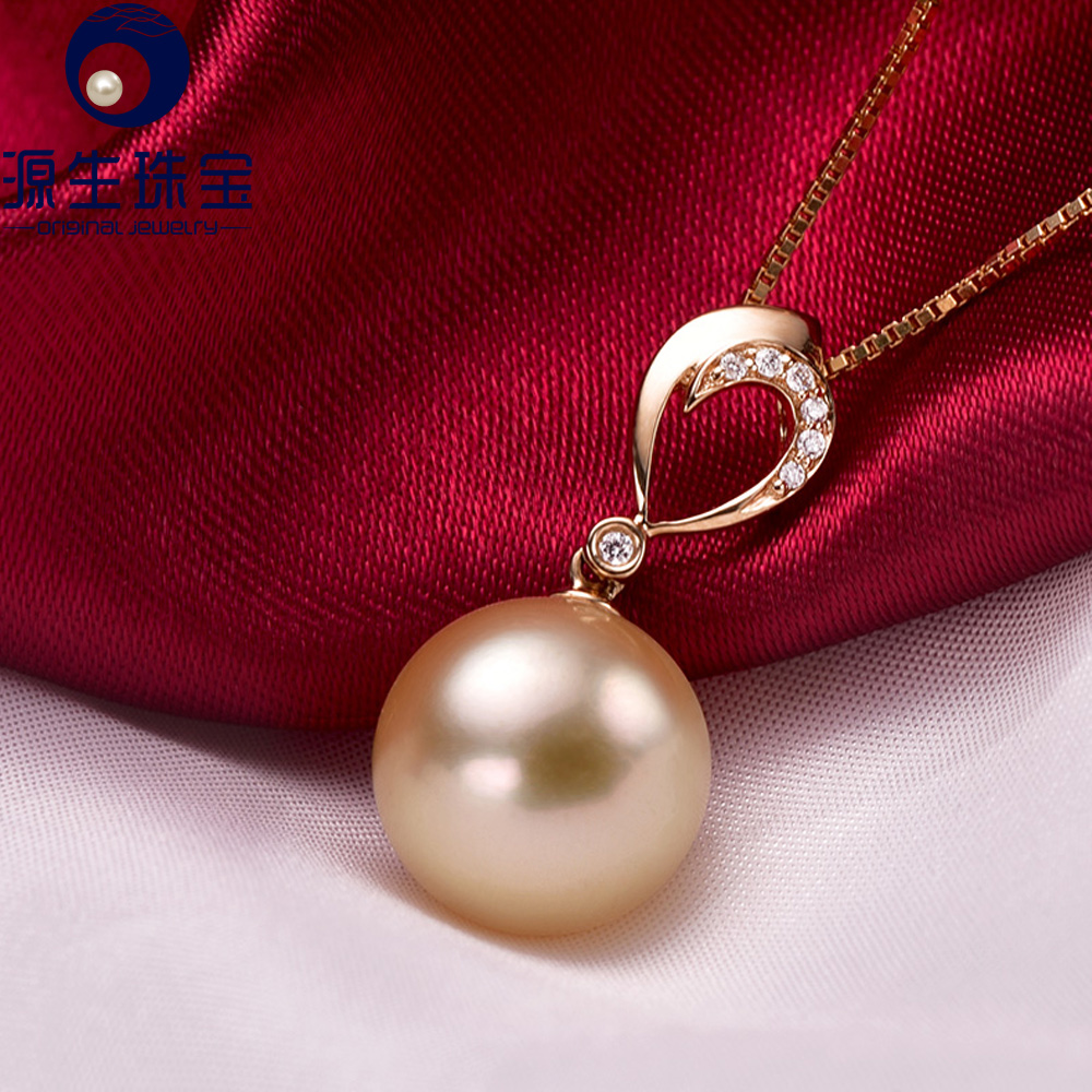 sea retail pearls certified pearl aaaa price quality necklace south aaa golden egl