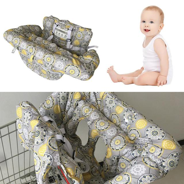 Twin Baby Multifunctional Supermarket Shopping Cart Cushion Seat Chair Cover Safe Travel Protection Antibacterial Cushion